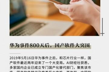 华为事件800天后国产软件大突围